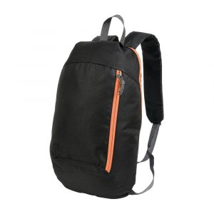 Zaino Nero 600D - Arancione