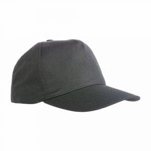 Cappello Baseball Cotone con Tricolore Nero